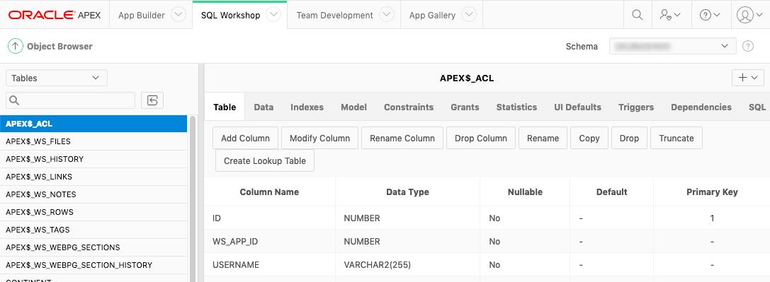 Туториал по Oracle Application Express  Обзор IDE