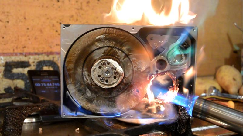 Аппаратное уничтожение данных на жёстком диске - 1
