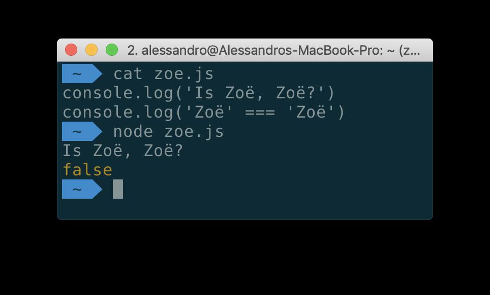 Когда «Zoë» !==«Zoë», или почему нужно нормализовывать Unicode-строки - 1