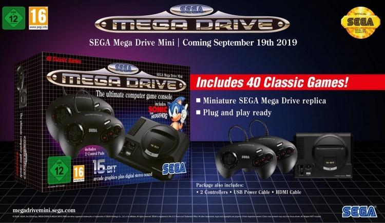 Ретро-консоль Sega Mega Drive Mini выйдет в сентябре с 40 предустановленными играми