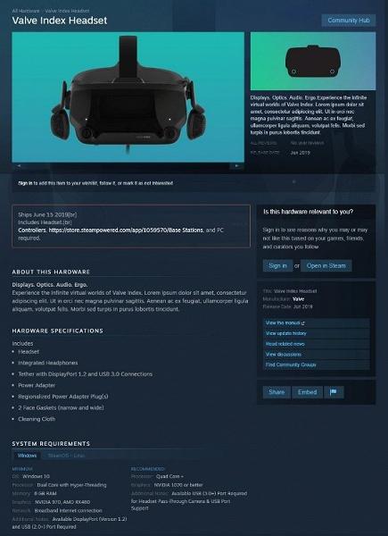 Готовьте 8 ГБ ОЗУ и Radeon RX 480: стали известны требования гарнитуры виртуальной реальности Valve Index