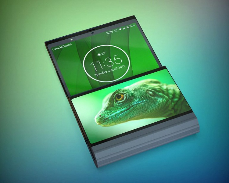 Складной смартфон Lenovo сгибается не посередине