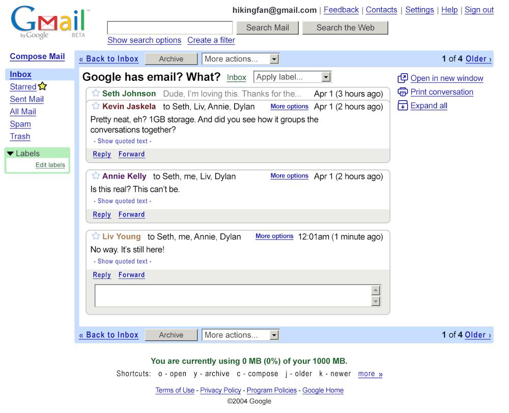 Gmail исполнилось 15 лет - 2