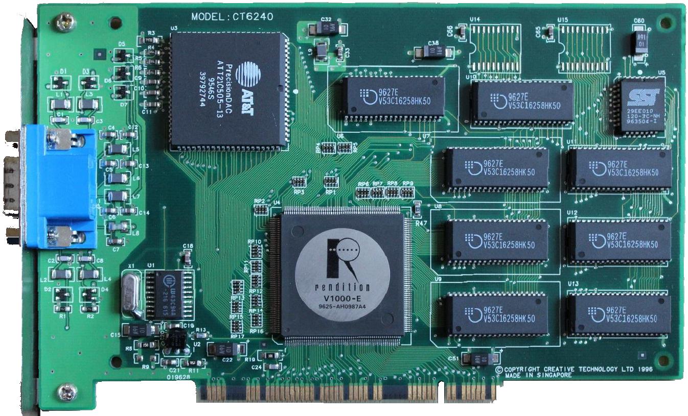 История первого GPU: Rendition Vérité 1000 - 6