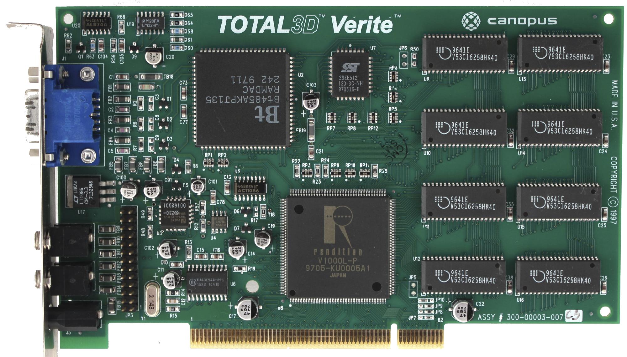 История первого GPU: Rendition Vérité 1000 - 8
