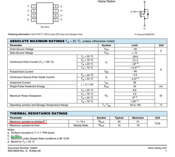 Максимальный постоянный ток через полевой транзистор - 3