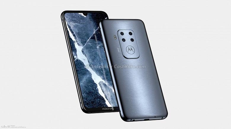 Рендеры и видео неизвестного смартфона Motorola с четверной камерой