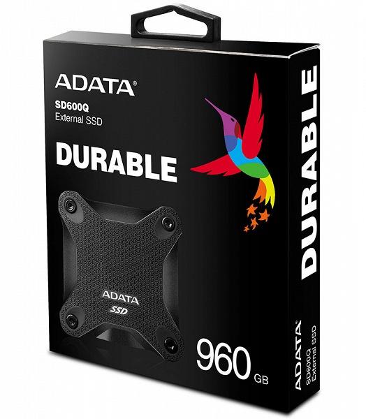 Внешние твердотельные накопители Adata SD600Q выпускаются объемом до 960 ГБ