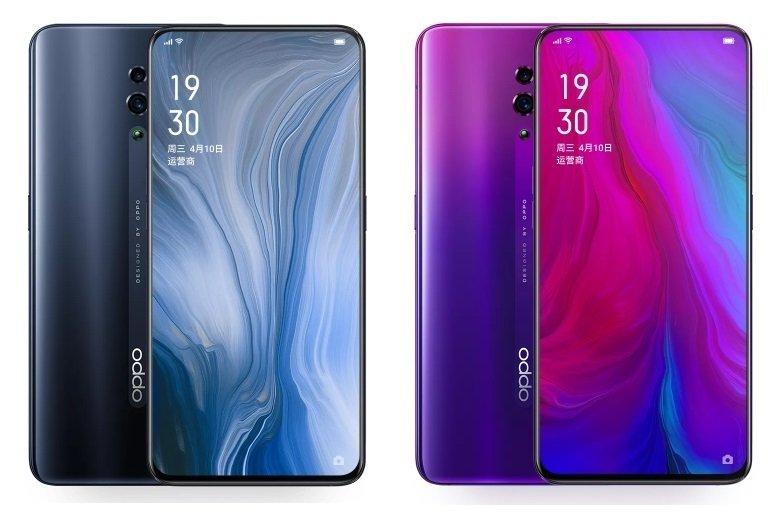 Oppo Reno уже на официальном сайте. Смартфон получил необычные цветовые варианты, NFC и быструю зарядку нового поколения