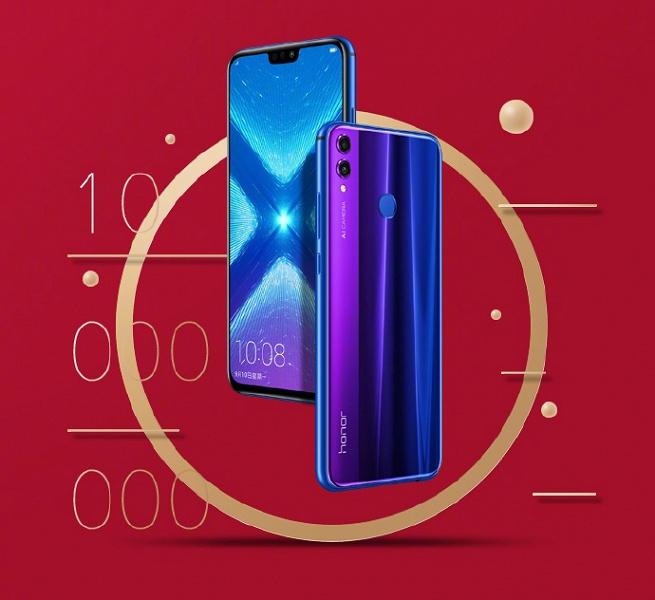 Продано более 10 млн смартфонов Honor 8X, цена снижена