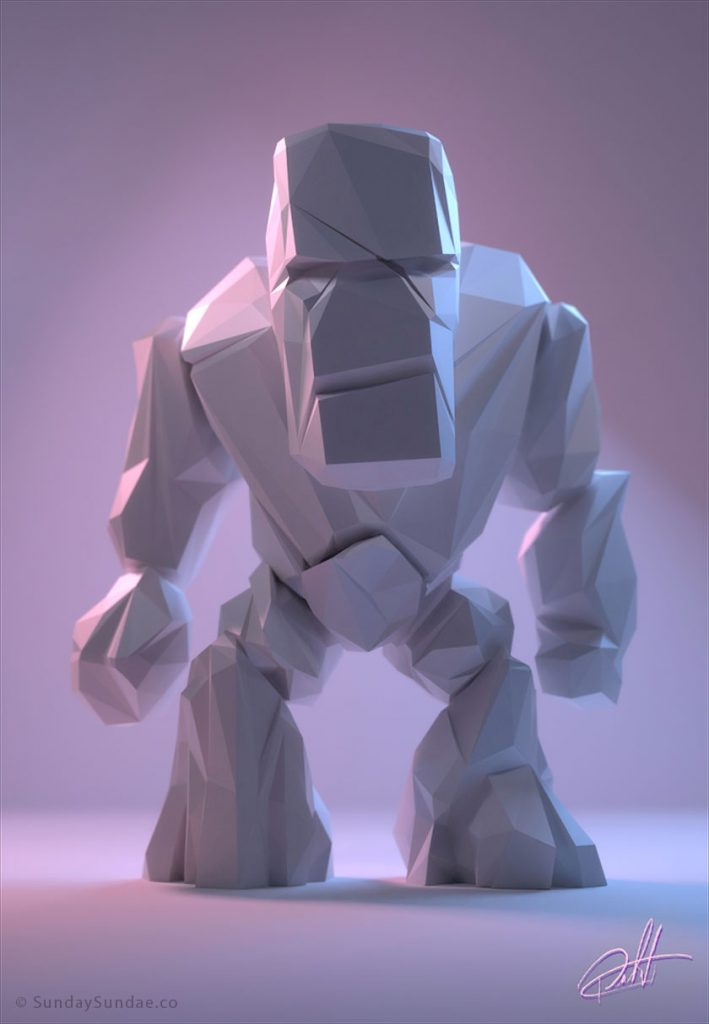 Дизайн низкополигональных персонажей - 7