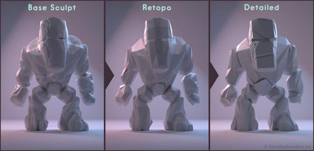 Дизайн низкополигональных персонажей - 9