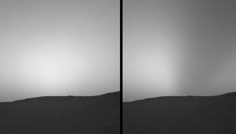 Curiosity увидел затмения Солнца двумя спутниками Марса - 4