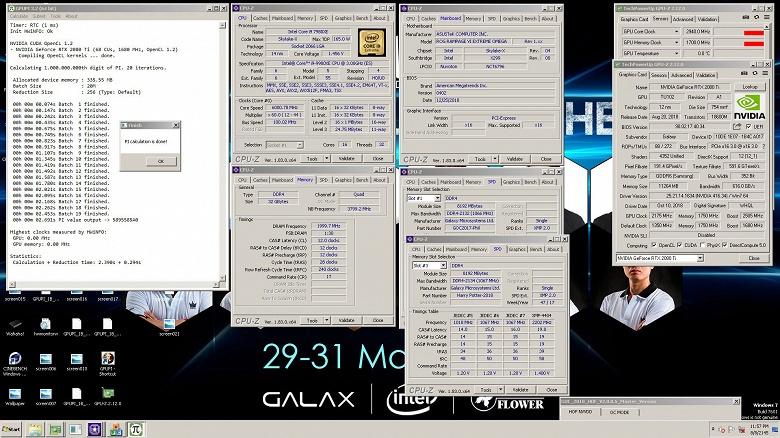 Рубеж в 3 ГГц почти взят. Видеокарту EVGA GeForce RTX 2080 Ti KINGPIN Hybrid разогнали до 2,94 ГГц