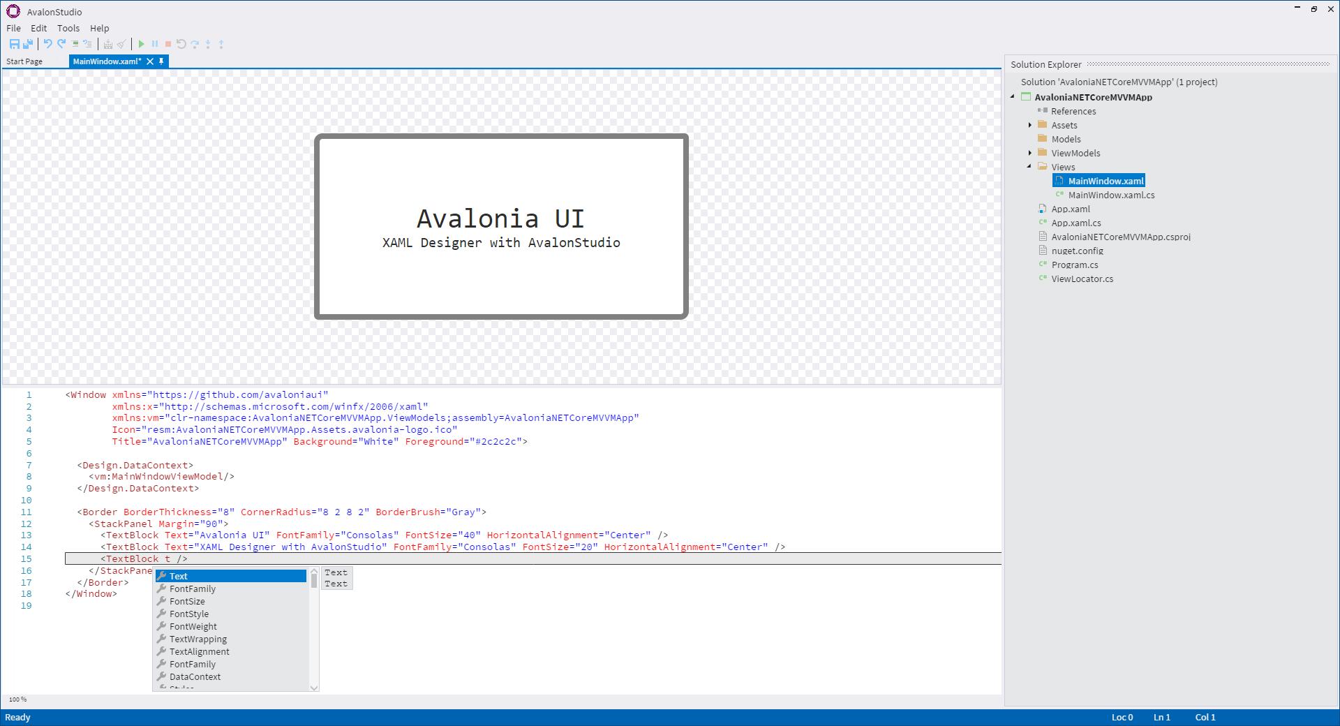 Релиз кросс-платформенного .NET UI-тулкита AvaloniaUI 0.8 - 9