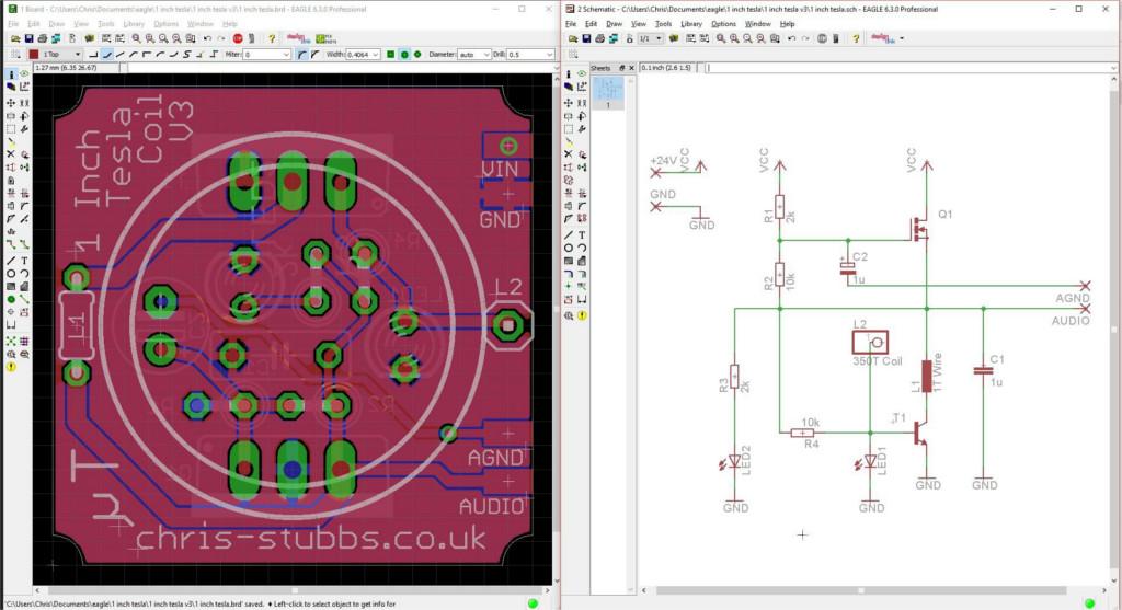 Трансформатор Теслы на плате площадью в один квадратный дюйм - 3