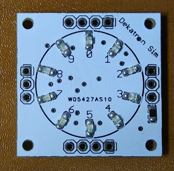 Миниатюрный функциональный аналог декатрона для реплики Harwell Dekatron Computer и не только - 4