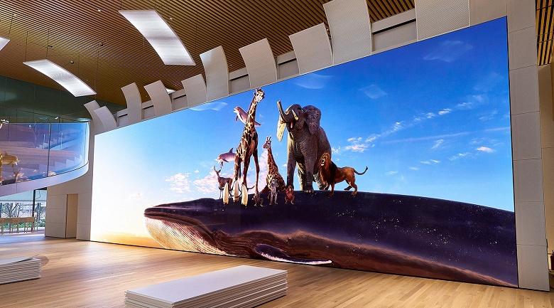 В 64 раза чётче Full HD. Sony представила гигантский экран Crystal LED с разрешением 16K