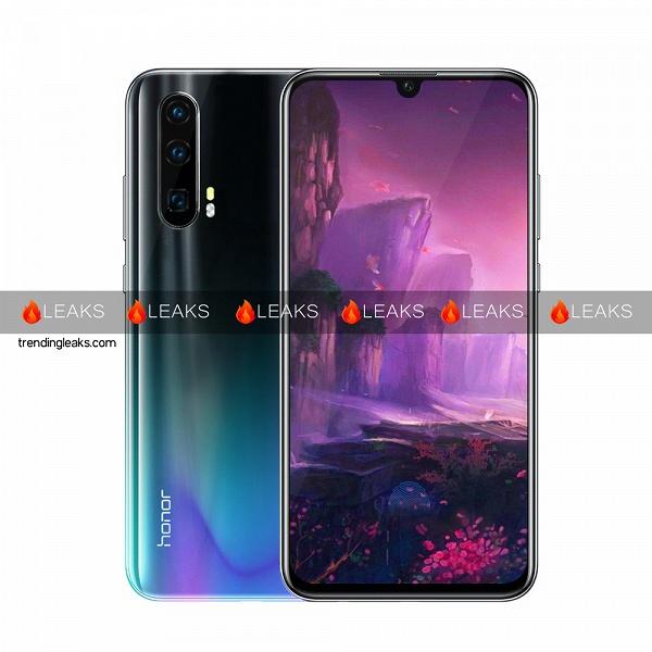 Очень похож на Huawei P30 и P30 Pro: опубликован рендер смартфона Honor 20 Pro