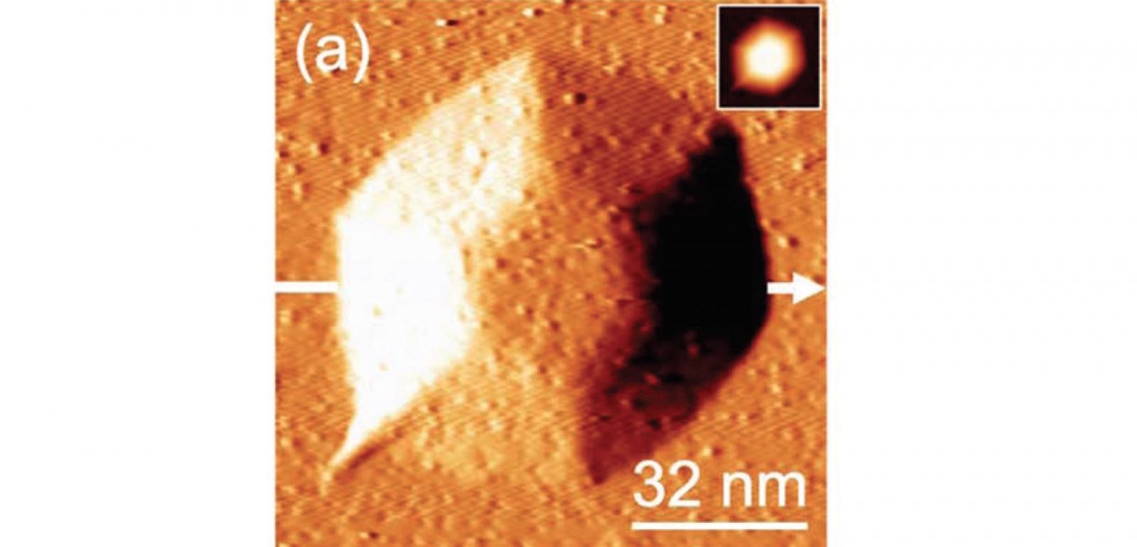 Пирамиды не на Марсе: изучение формы нанокристаллических кластеров под слоем графена - 1