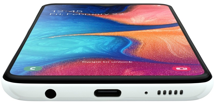 Смартфон Samsung Galaxy A20e получил 5,8″ дисплей Infinity V