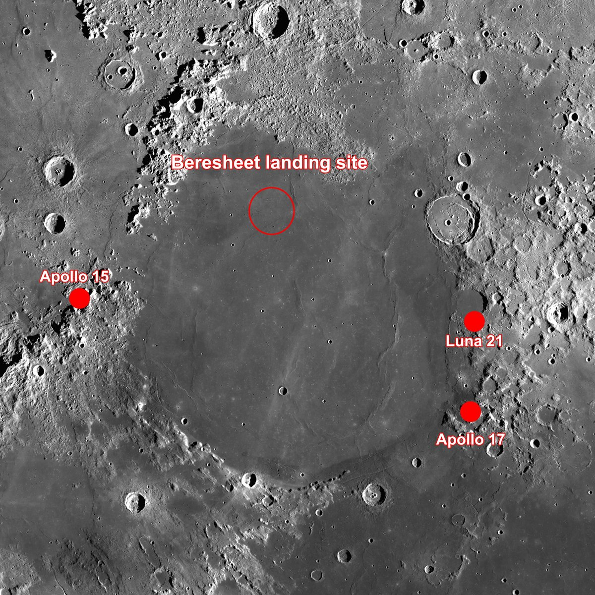 Лунная миссия «Берешит» — есть посадка на Луну (технически) - 101