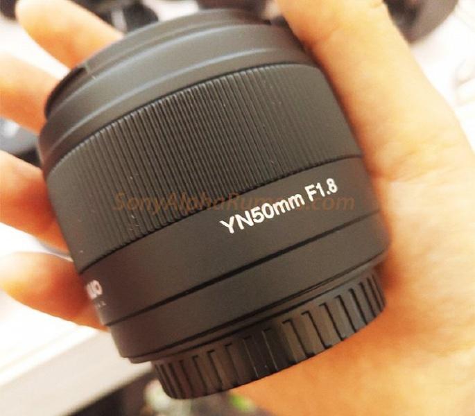 Появилось первое изображение объектива Yongnuo YN50mm F1.8