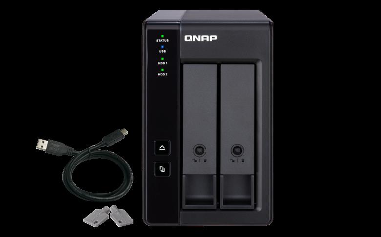Шасси QNAP TR-002 можно использовать для расширения дисковых хранилищ