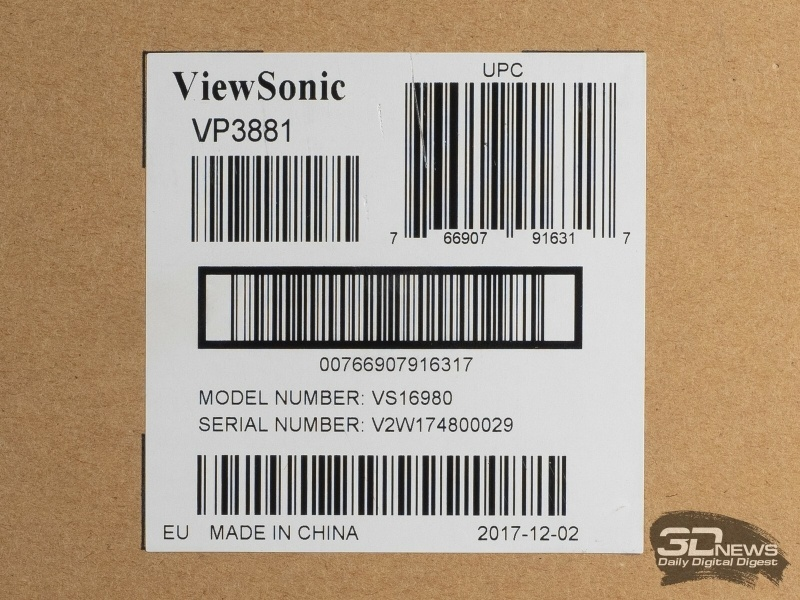 Новая статья: Обзор профессионального 38-дюймового монитора Viewsonic VP3881: гора возможностей