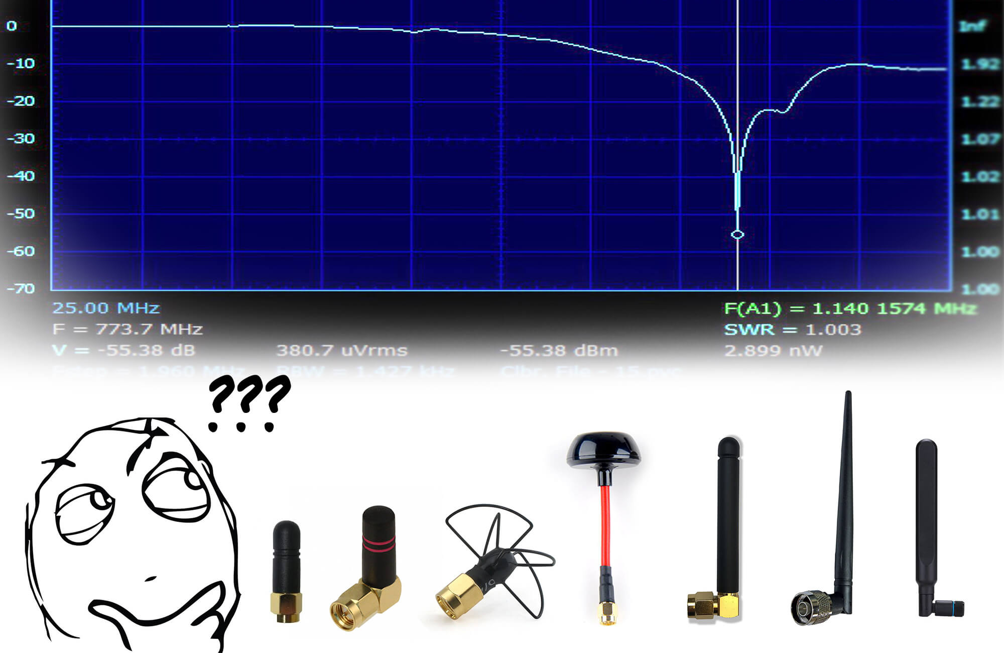 На какой диапазон эта антенна? Измеряем характеристики антенн - 1