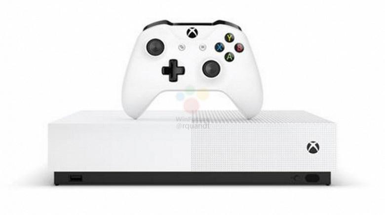 Рассекречена игровая консоль Xbox One S All Digital: за 300 евро и без оптического привода, но с жестким диском на 1 ТБ