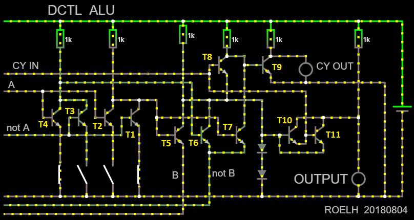 АЛУ на 12 транзисторах (на самом деле нет) - 1