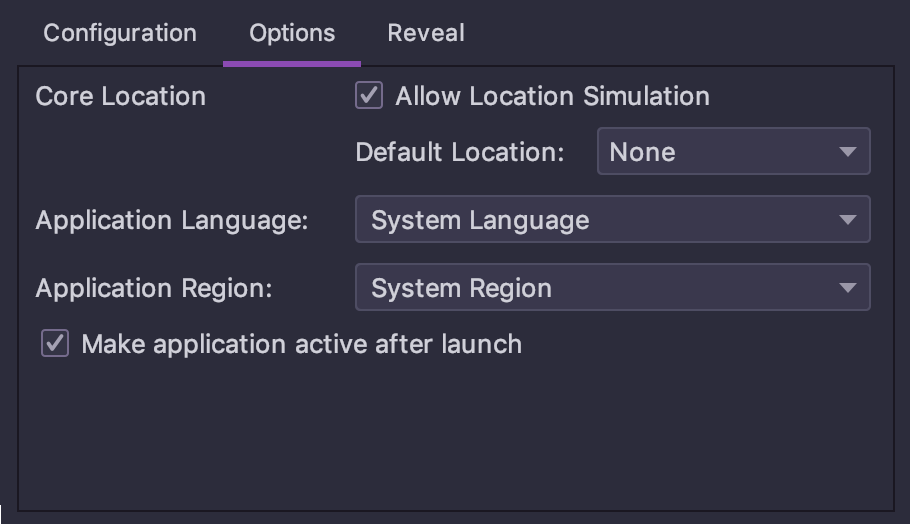 Application language and region