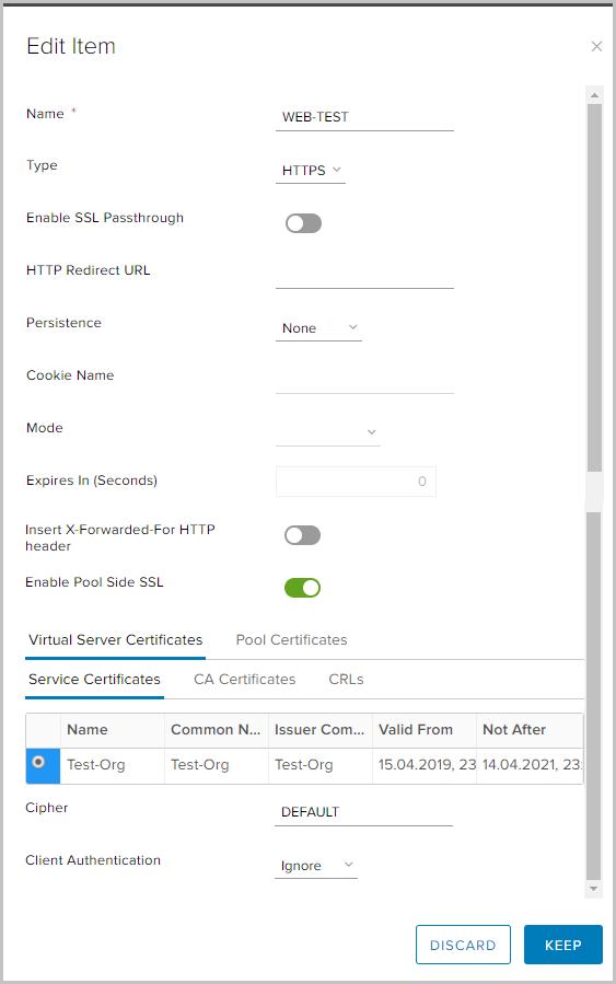 VMware NSX для самых маленьких. Часть 5. Настройка балансировщика нагрузки - 12