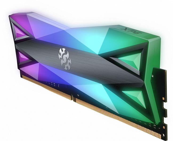 Модули памяти Adata XPG Spectrix D60G DDR4 украшены «самой большой подсветкой»