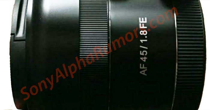 Появилось первое изображение автофокусного объектива Samyang 45mm f/1.8 FE