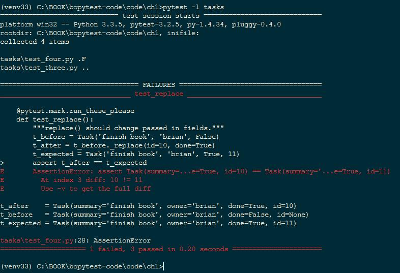 Python Testing с pytest. Начало работы с pytest, Глава 1 - 11