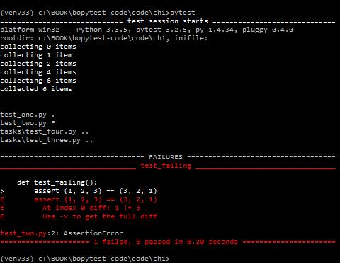 Python Testing с pytest. Начало работы с pytest, Глава 1 - 8
