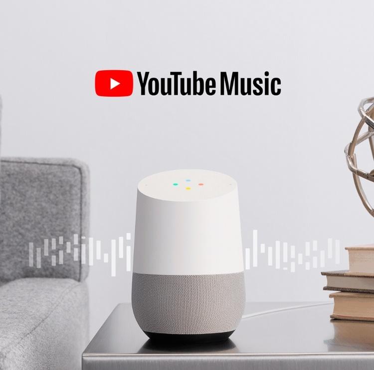 Пользователи Google Home получили бесплатный доступ к YouTube Music