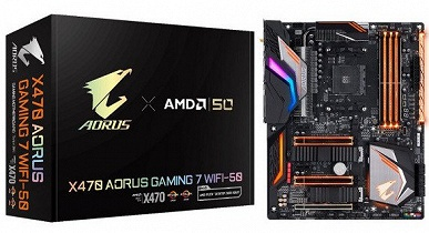 Gigabyte отмечает 50-летие AMD памятным вариантом системной платы Aorus X470 Gaming 7 WiFi