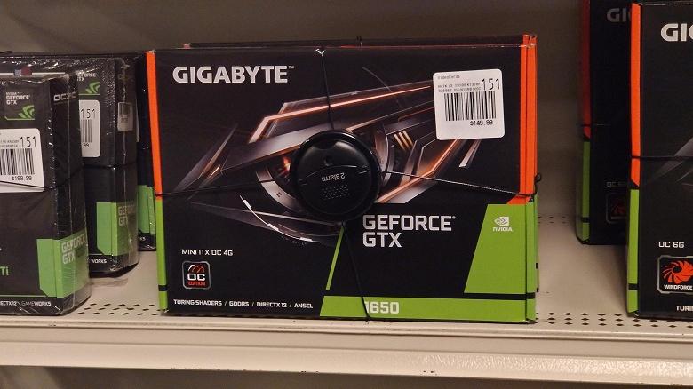 Видеокарты GeForce GTX 1650 уже стоят на полках магазинов, причём по рекомендованной цене