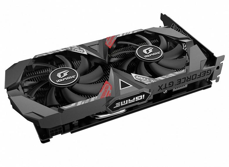 Графический процессор 3D-карты Colorful Colorful iGame GeForce GTX 1650 Ultra 4G разогнан до 1860 МГц