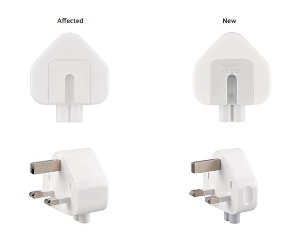 Apple отозвала адаптеры питания из-за опасности удара током