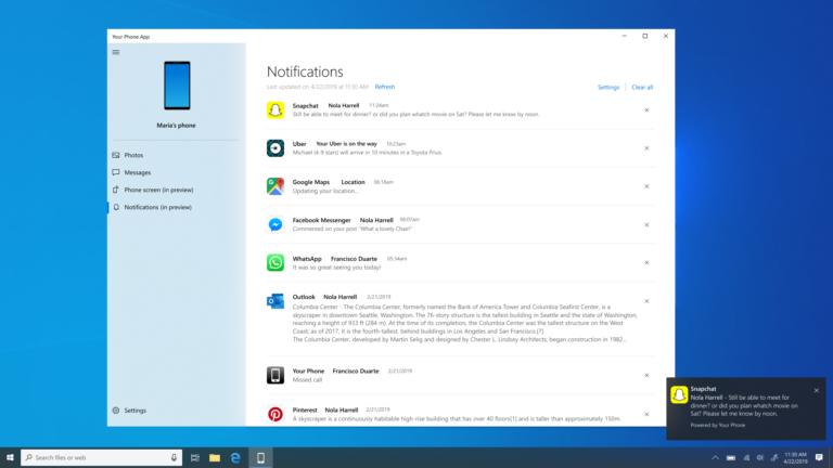 Microsoft запустила «отзеркаливание» оповещений Android на Windows 10