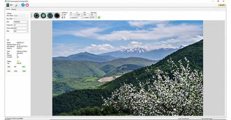 Приложение Wi-Fi Commander 1.5 для камер Ricoh и Pentax позволяет планировать снимки