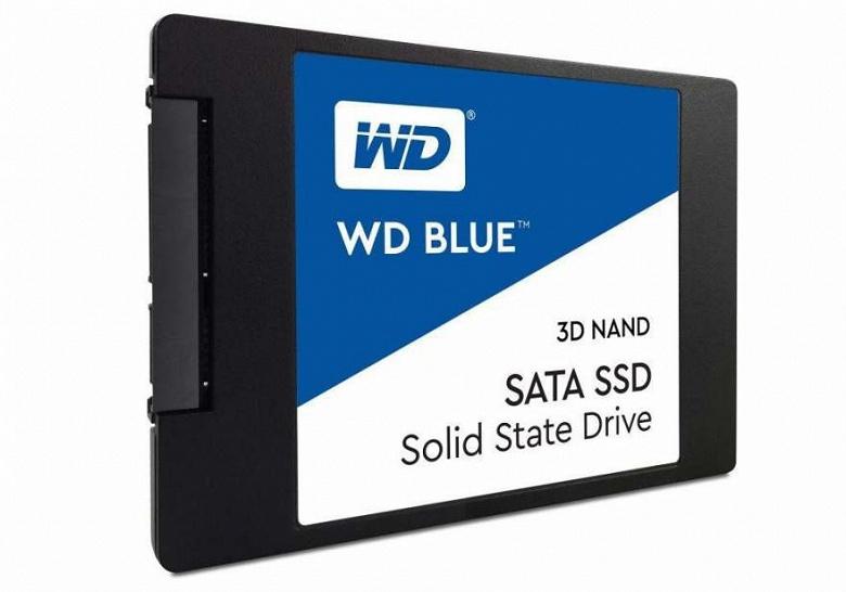Твердотельный накопитель WD Blue объемом 4 ТБ уже можно купить
