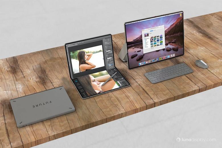Концепт дня: впечатляющий гибридный Mac-iPad с огромным складным экраном