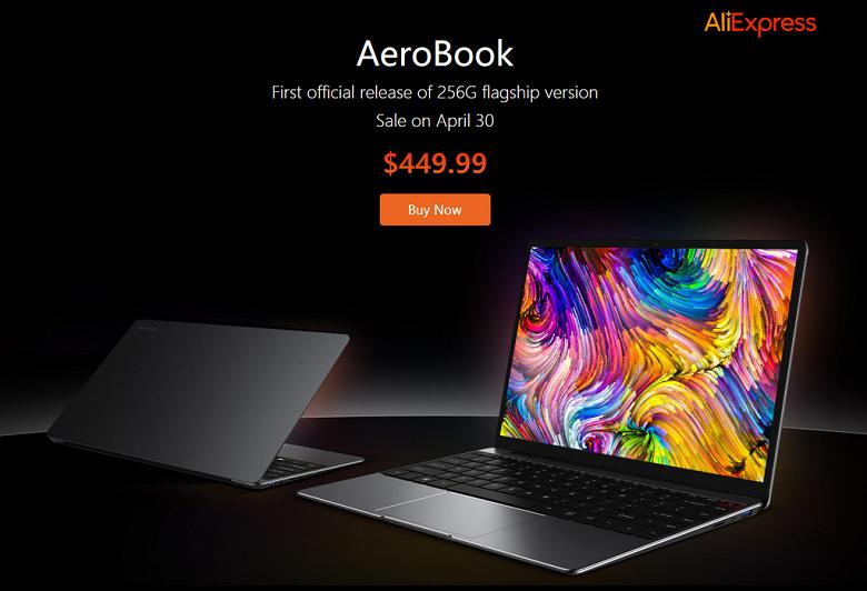 Ноутбук Chuwi AeroBook, который называют Windows-версией MacBook Pro, поступил в продажу