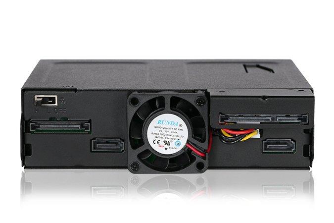 Icy Dock ToughArmor MB602SPO-B позволяет установить в отсек для оптического привода не только его, но и два накопителя типоразмера 2,5 дюйма