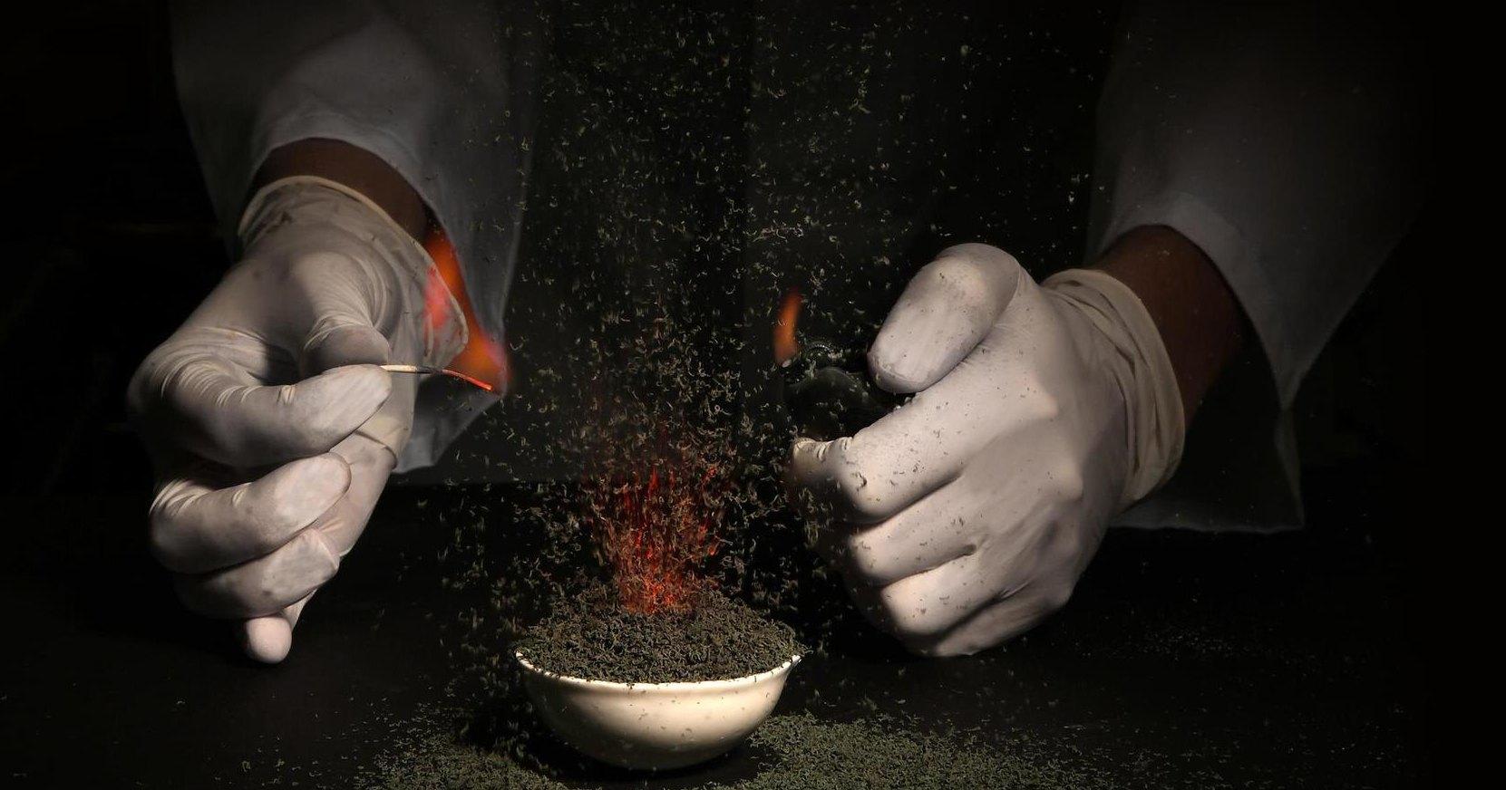 Химия, химия, вся посуда синяя: реактивы